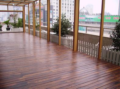 工商银行楼顶(经narnia纳尼亚木油处理的炭化木地板)