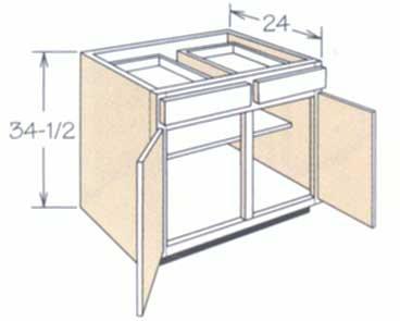 点击查看美式橱柜多层板柜体放大图片