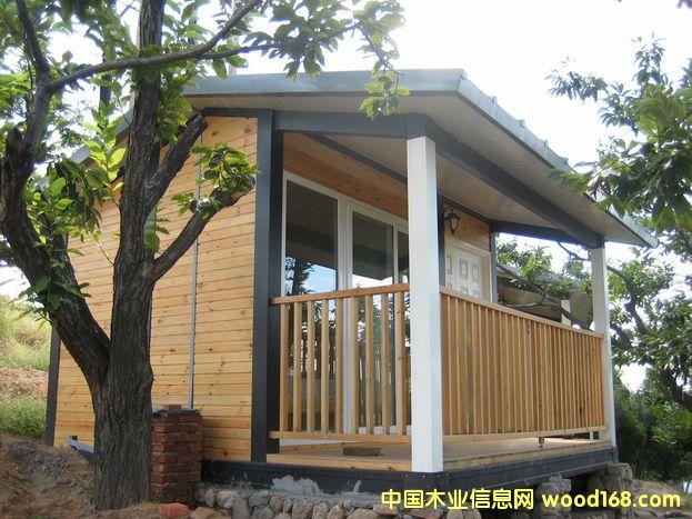 河北唐山上关湖风景区,海南三亚等全部用此款轻钢结构小木屋.