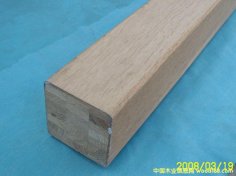 柞木贴皮集成柱Oak Attaching Glued Lam