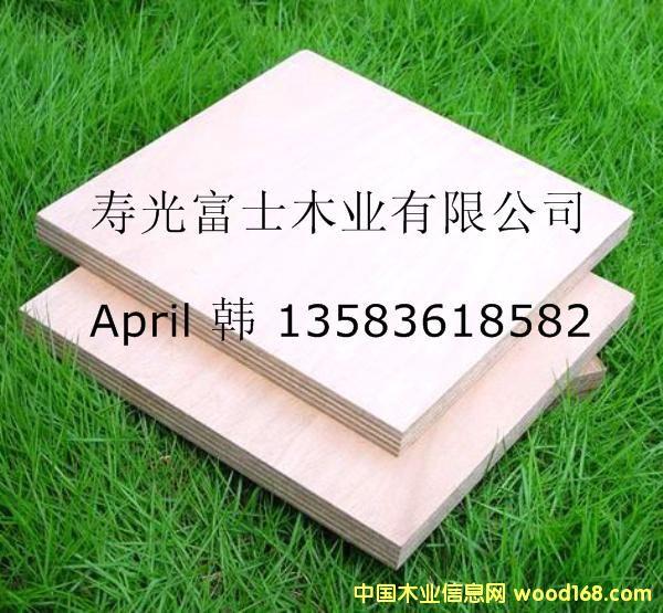 漂白杨木面底胶合板(产品通过CARB认证)