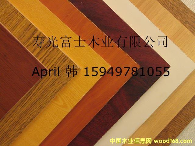 覆膜刨花板 贴三聚氰胺纸刨花板