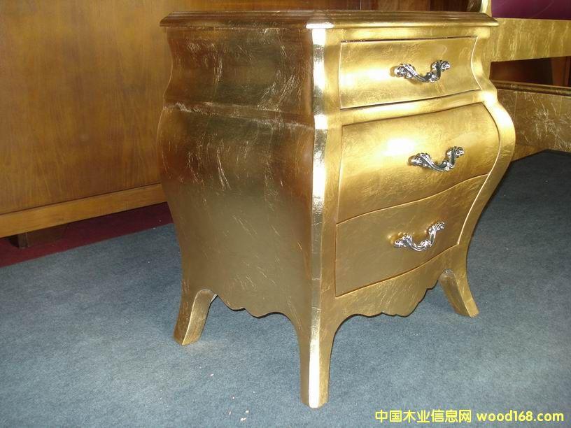 金箔床头柜