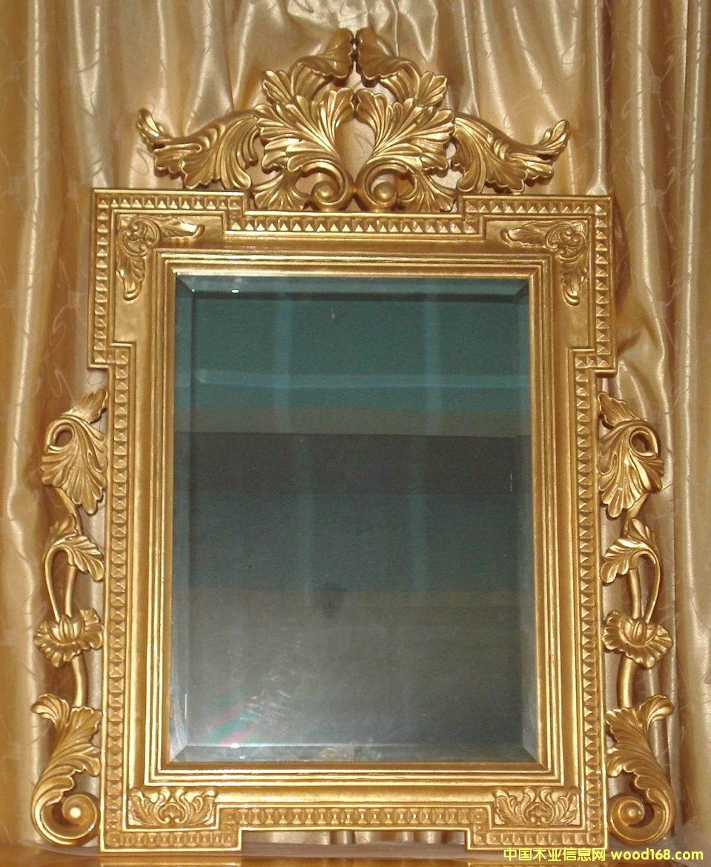 金箔雕花镜图片