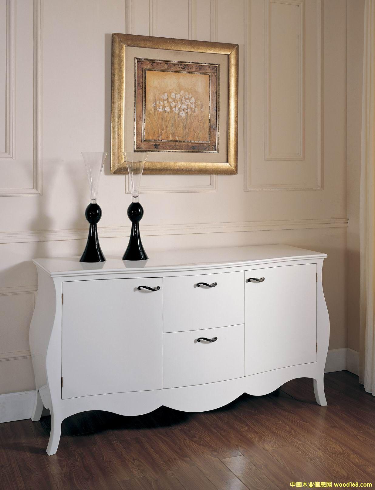 白亮光备餐柜