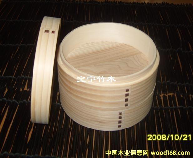 柳杉木便当盒(圆形)