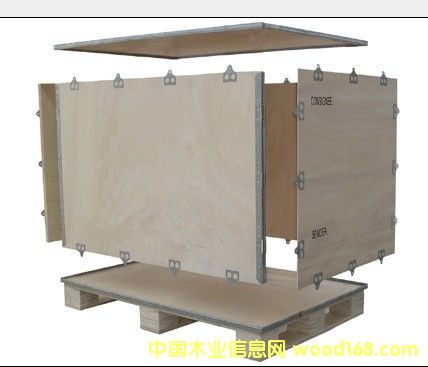 四面可拆钢带木箱