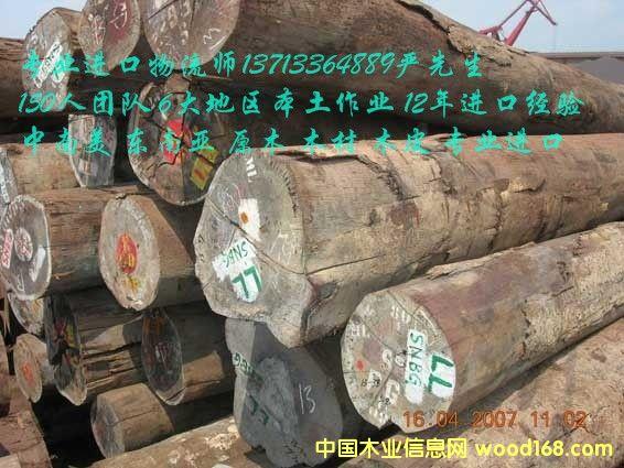 进口东南亚橡胶木/柚木/南洋木进口中山深圳报关