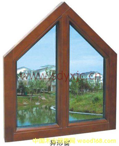 纯木异型窗