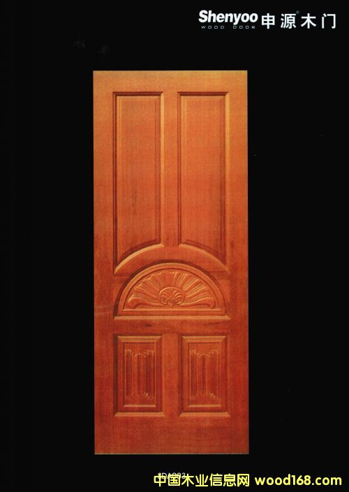 原木实木门;楼梯