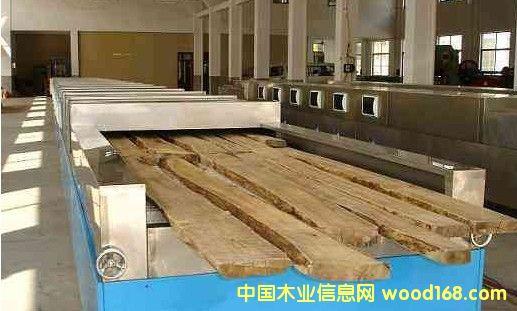 隧道式竹木微波干燥设备