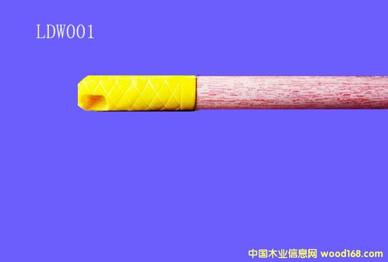 木纹PVC包塑桉木扫把柄(LDW001)