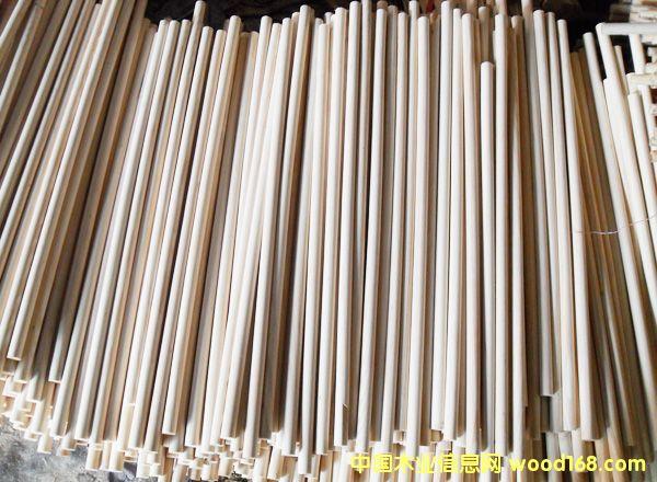 桦木松木圆木棒半成品加工的详细介绍