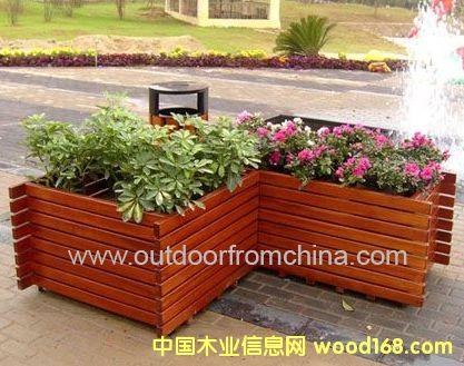 实木花箱 樟木花槽