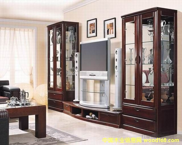 实木组合电视柜