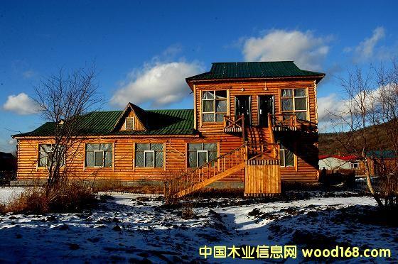 俄式欧式木刻楞房屋