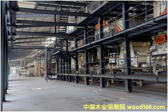 上海板机4ft刨花板连续压机生产线在安徽叶集顺利运行