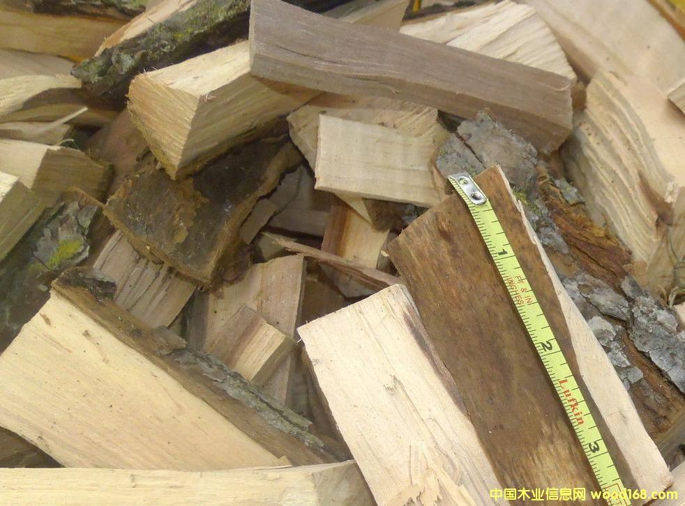陕西果木劈开柴