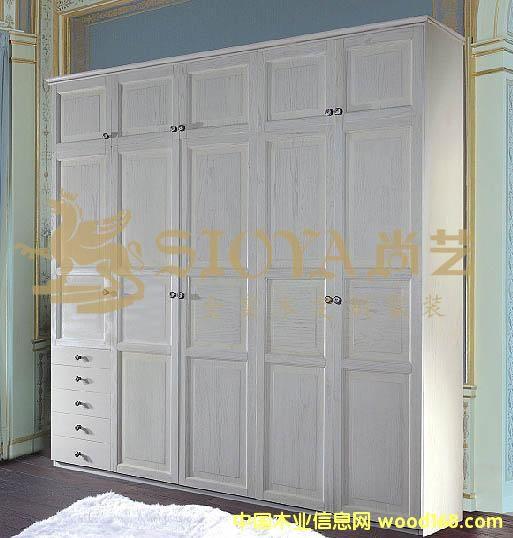 欧式实木衣柜