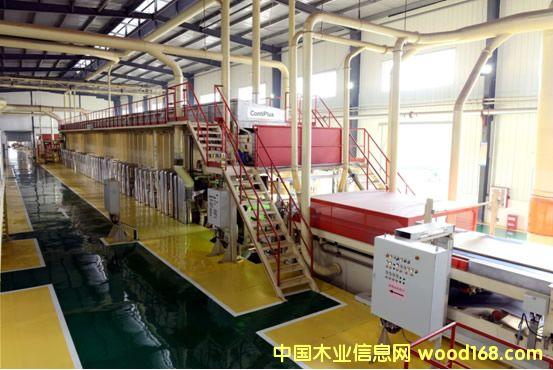 迪芬巴赫上海板机4ft宽连续压机生产线在江西吉安顺利运行