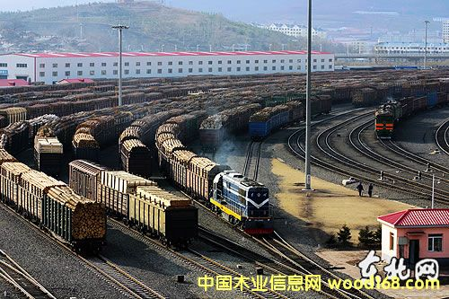 绥芬河铁路口岸进口的木材