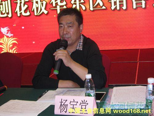 吉林森工江苏分公司副总经理杨宝堂会上发言