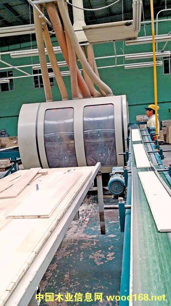 远东木业引进的世界领先的生产线