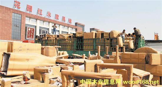 """东阳花园红木家具城誉满全球 稳坐同类市场""""头把交椅"""""""