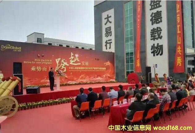 大亚人造板集团惠州刨花板生产基地正式开业启动