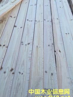 地产小红松锯材20T型齐边板(原木径切)