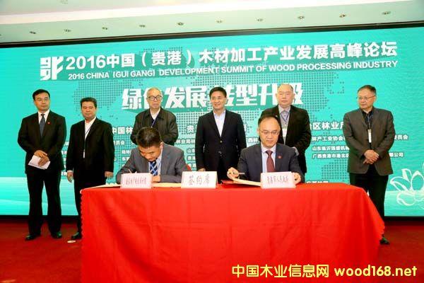 2016中国(贵港)木材加工产业发展高峰论坛举行