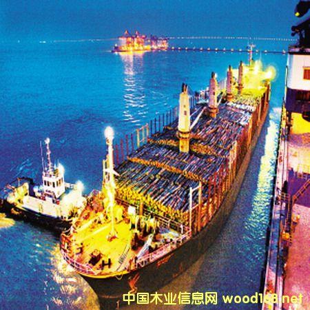 常熟港占中国进口新西兰木材总量的25%
