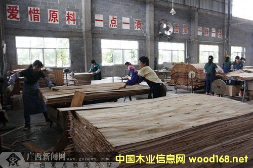 贵港市成广西重要的林板加工基地和林产品贸易集散地