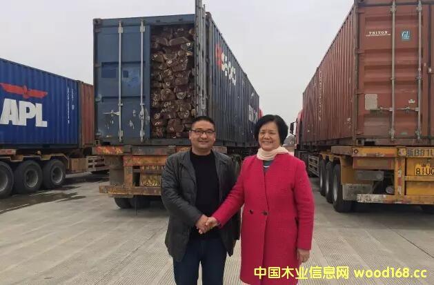 东阳木材交易中心完成首笔交易 6车红贵宝20分钟达成交易
