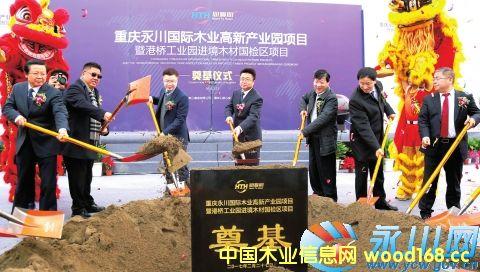 重庆永川国际木业高新产业园项目进境木材国检区项目正式开工