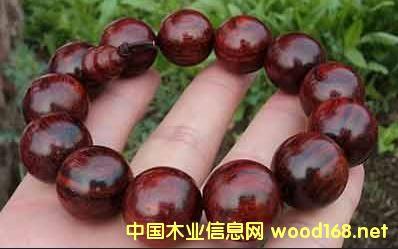 染料紫檀(血檀)手串