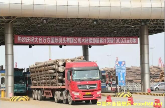 太仓万方国际码头提前完成年度木材接卸量280万立方米