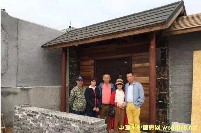 云南创合木屋总经理窦玲一行考察烟台黄海木工机械
