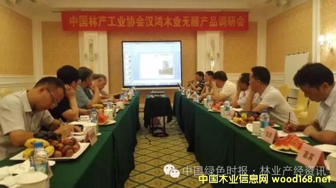 林产工业专家专题调研广东汉鸿木业MDI纤维板