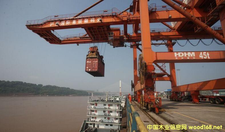 泸州港对接太仓港、张家港开展木材进口业务