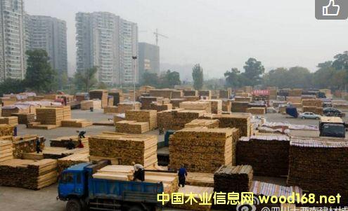 四川大西南建材城:白松锯材市场需求走高