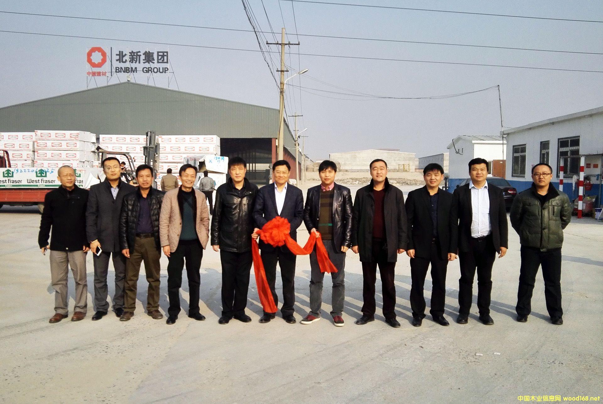北新集團天津專屬木材倉庫正式啟用運營