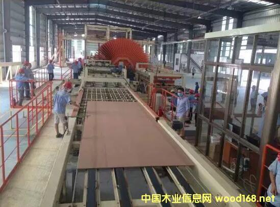 福马连续平压纤维板线在之荣板业成功出板
