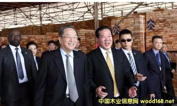 全国政协主席俞正声主席考察宜华木业加蓬子公司
