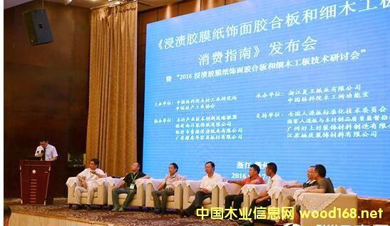 浸渍胶膜纸饰面胶合板和细木工板消费指南发布会在浙江衢州召开