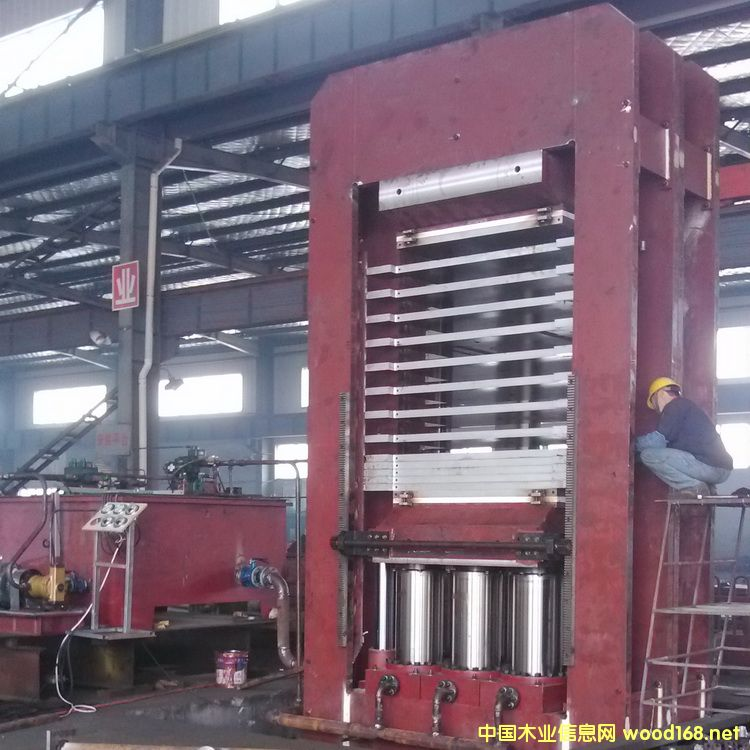 1800T碳纤维板热压机