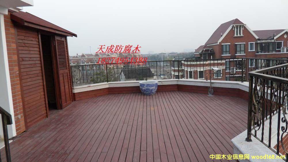 屋顶花园防腐木木制品