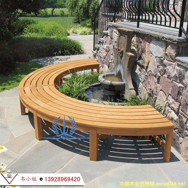户外庭院家具 公园椅室外休闲椅花园长椅 防腐木长凳子定制