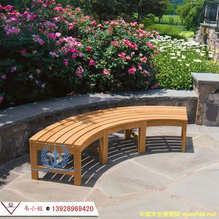 别墅花园长椅 长凳子园林公园椅防腐木实木长凳子