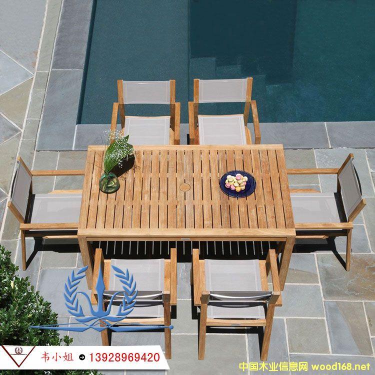 菠萝椅桌椅 户外特斯林布椅子 广州实木桌椅伞 户外柚木桌子椅